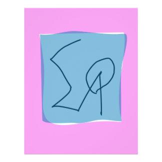 Pink Gray Marker 21.5 Cm X 28 Cm Flyer