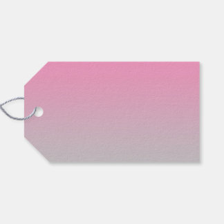 Pink & Gray Ombre Gift Tags
