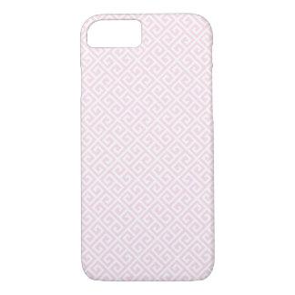 Pink Greek Key Pattern iPhone 7 Case