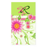 Pink & Green Abstract Floral Design 4