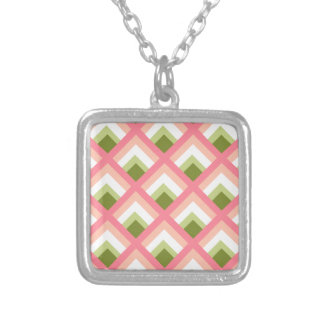 Pink Green Abstract Geometric Designs Color Pendants