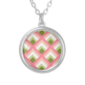 Pink Green Abstract Geometric Designs Color Custom Jewelry