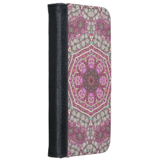 Pink Green Abstract iPhone 6 Wallet Case