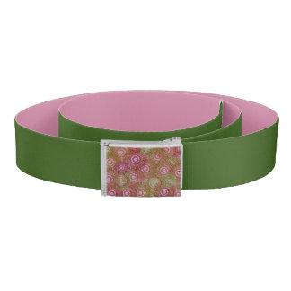Pink green abstract retro belt