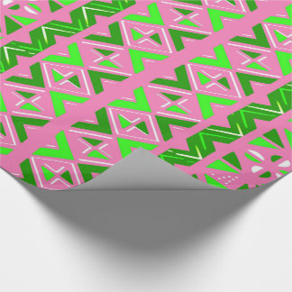 Pink & Green African Pattern Wrapping Paper