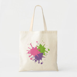 Pink, Green and Purple Paint Tote