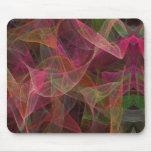 Pink, Green & Black Fractal Mousepad