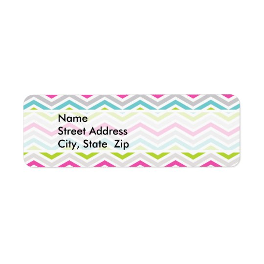 Pink, Green, Blue and White Chevron Stripes
