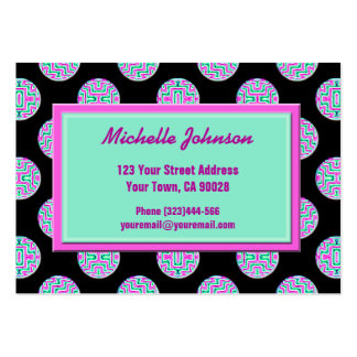 Pink Green Circles Pack Of Chubby Business Cards