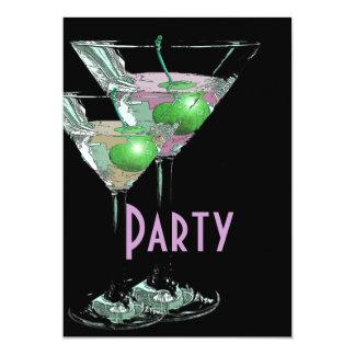 "Pink green elegant formal party 5"" x 7"" invitation card"