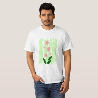 Pink & green flora T-Shirt