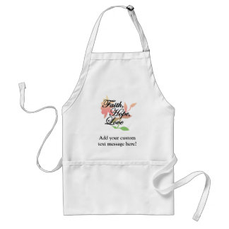 Pink/Green Floral Faith Hope Love Standard Apron