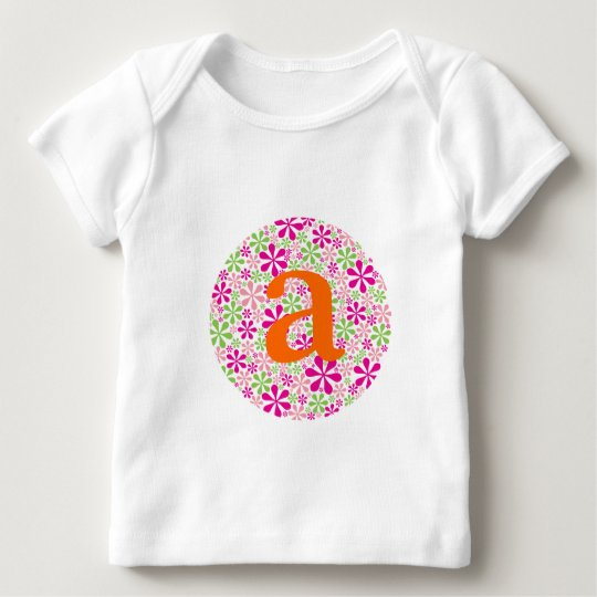 Pink & Green Flower Power Baby T-Shirt