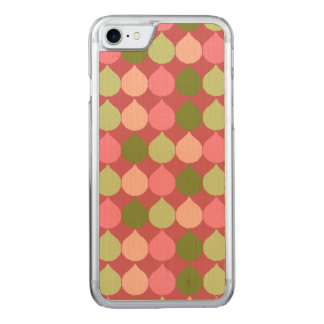 Pink Green Geometric Ikat Teardrop Circles Pattern Carved iPhone 8/7 Case