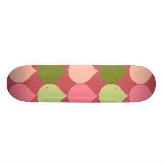 Pink Green Geometric Ikat Teardrop Circles Pattern Skate Decks