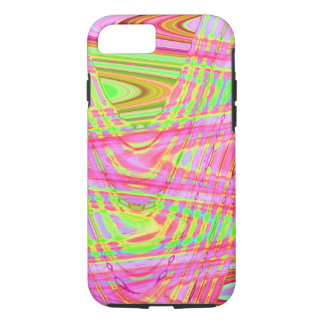 Pink Green Groovy Abstract iPhone 7 Case