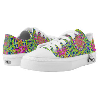 Pink/Green Kaleidoscope Burst Zipz Shoes