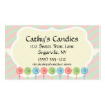 Pink Green Lollipop Candy Shop Baker Confectioner Pack Of Standard Business Cards