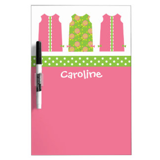 Pink & Green Lollipop Shift Dress Dry Erase Board