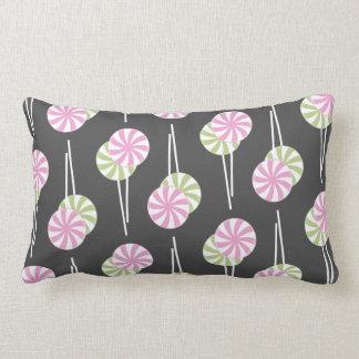Pink & Green Lollipops Lumbar Pillow