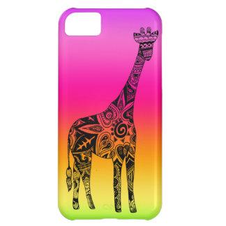 Pink & Green Neon Giraffe iPhone 5C Case