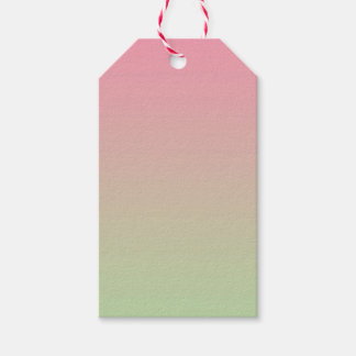 Pink & Green Ombre Gift Tags
