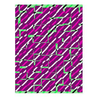 Pink & Green - Pattern Post Card