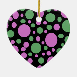 pink green pokka dots christmas ornament