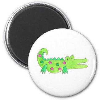 Pink & Green Preppy Alligator Fridge Magnets