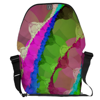 Pink Green Purple Abstract Messenger Bags