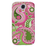Pink / green retro Paisley Patterns