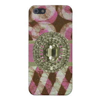 Pink & Green Rhinestone Iphone4 Speck Case iPhone 5 Cover