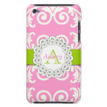 Pink Green Swirls Floral iPOD Case iPod Case-Mate Cases