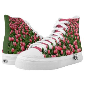 Pink & Green Tulip HighTops! High Tops