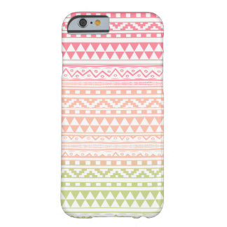 Pink Green Watercolor Aztec Tribal Print Pattern Barely There iPhone 6 Case