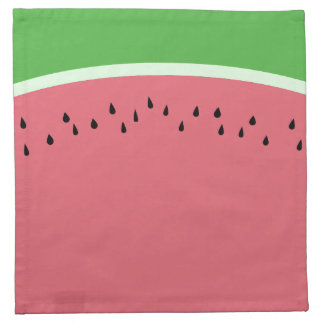 Pink Green Watermelon Color Cloth Napkins