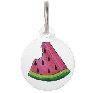Pink Green Watermelon Melon Slice Food Dog Pet Tag