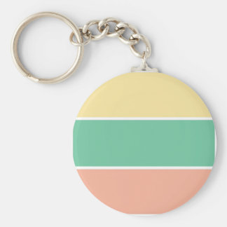 Pink Green Yellow Tri Color Design Key Chains