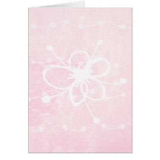 Pink Greetings Card