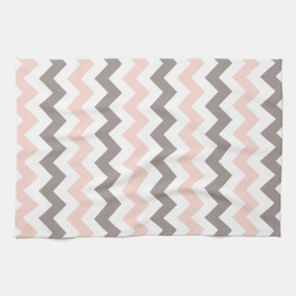 Pink & Grey Chevron Kitchen Towel