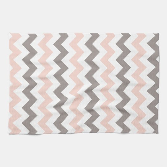 Pink & Grey Chevron Kitchen Towel