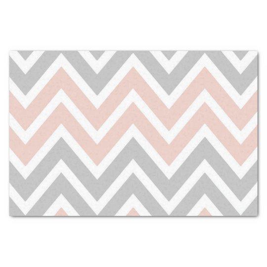 Pink & Grey Chevron Tissue Paper
