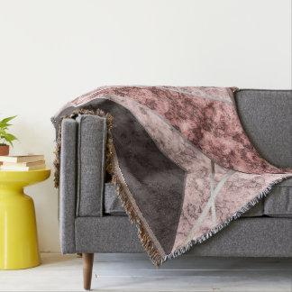 Pink grey combo pattern . throw blanket