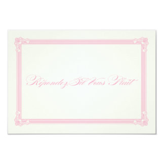 Pink, Grey & Cream Poster Style Wedding RSVP Card
