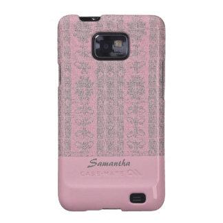 pink grey damask pattern samsung galaxy SII covers