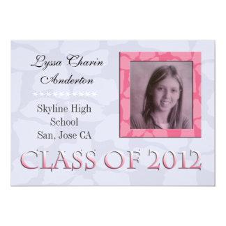 Pink & Grey Floral : Invitation
