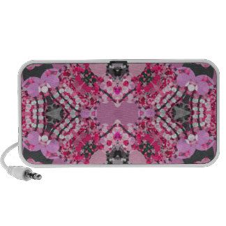Pink Grey Girly Abstract Mini Speakers