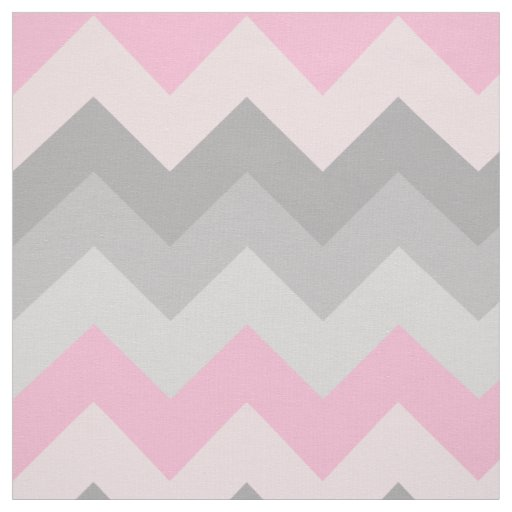Pink Grey Grey Chevron Ombre Fade Fabric