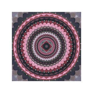 Pink grey mandala canvas print