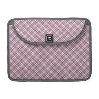 Pink grey plaid sleeve for MacBooks